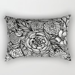 Peony Fascination Rectangular Pillow