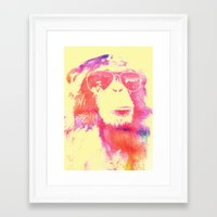 chill Framed Art Prints featuring Chill by orangpalsu