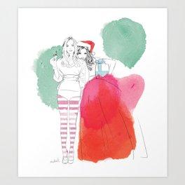 Christmas Illustrations Art Print