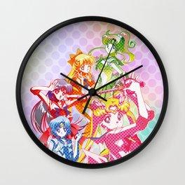 Sailor Senshi Dots Version Wall Clock