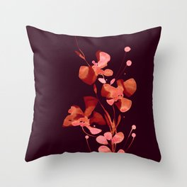 Organic Impressions 334zm by Kathy Morton Stanion Throw Pillow