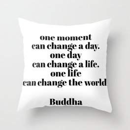 one moment Throw Pillow
