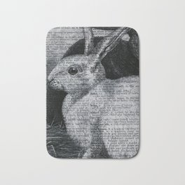 Dictionary Bunnies by Kathy Morton Stanion Bath Mat