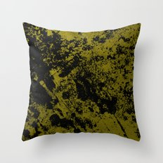 Black On Foil - Black And Gold Abstract Throw Pillow