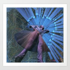 blue dancer Art Print