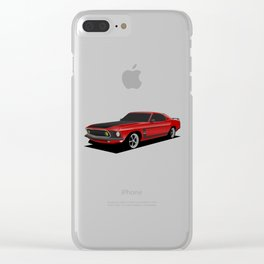 Mustang Boss Red Clear iPhone Case