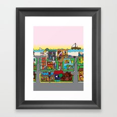Good Magazine Neighborhoods Framed Art Print