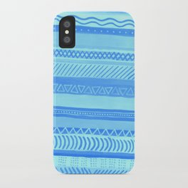 Tribal#1 (Blue) iPhone Case