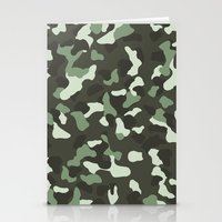 camo Stationery Cards featuring CAMO by Brukk