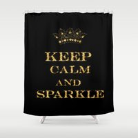 keep calm Shower Curtains featuring Keep calm by UtArt