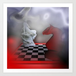 the other Chess-Lady Art Print
