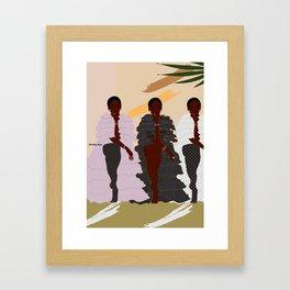Gambettes Framed Art Print