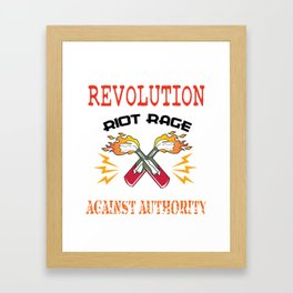 This is the awesome revolutionary Tshirt Those who make peaceful revolution START THE REVOLUTION Tee Framed Art Print