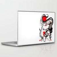 okami Laptop & iPad Skins featuring Chibi Amaterasu Okami II by Rubis Firenos