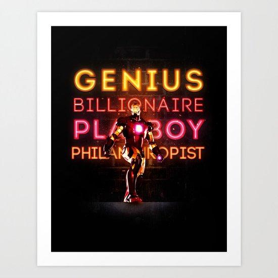 Iron Man: Genius Billionaire Playboy Philanthropist Art Print