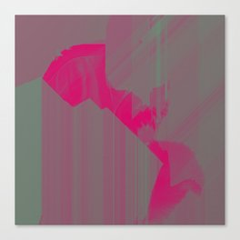 Swamp Pink American Glitch Canvas Print