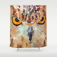 owl Shower Curtains featuring Owl by contemporary