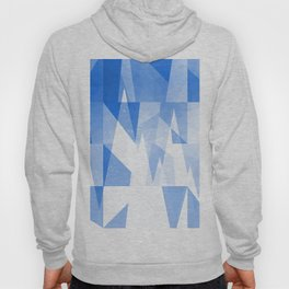 Abstract Blue Geometric Mountains Design Hoody