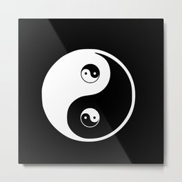Ying yang the symbol of harmony and balance- good and evil Metal Print