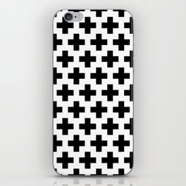 Swiss Cross B&W iPhone Skin