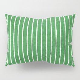 Holiday Hexies Green Stripe Pillow Sham