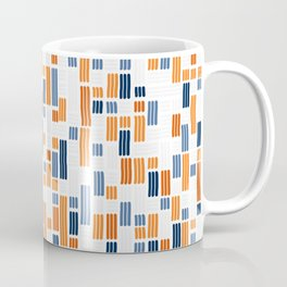 Orange and Blue Dash 07 Coffee Mug
