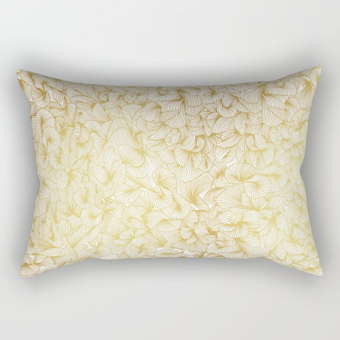 Gold Inklings Rectangular Pillow