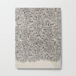 Abstract Pattern – Black Metal Print