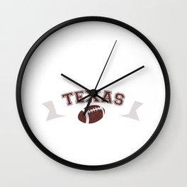 Just a Baller from Texas Football Player Wall Clock