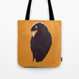 Raven in yellow and black art print Tote Bag