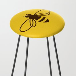 Be safe - save bees Counter Stool