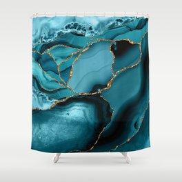 Iceberg Marble Shower Curtain