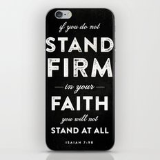 Isaiah 7:9b iPhone & iPod Skin