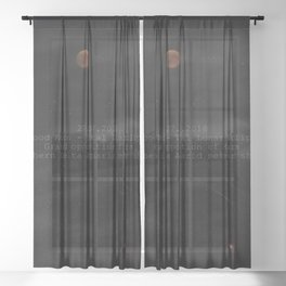 Blood Moon - Total Lunar Eclipse, Grand opposition of Mars, Southern Delta Aquarid meteor shower Sheer Curtain