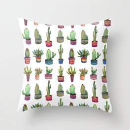 cactus in pockets Throw Pillow