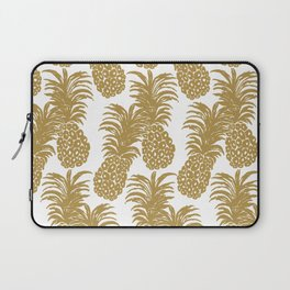 Gold Pineapples Laptop Sleeve