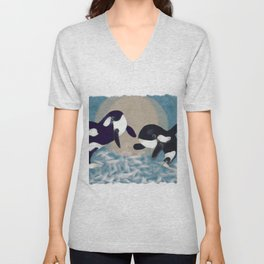 Whale dance Unisex V-Neck