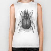 beetle Biker Tanks featuring Beetle by Salih Gonenli