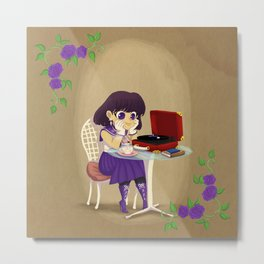 Retro Sailor Saturn Metal Print