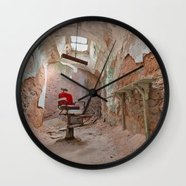 Abandoned Barber Prison Cell Wall Clock
