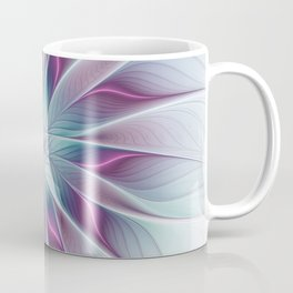 Floral and Luminous, abstract Fractal Art Coffee Mug