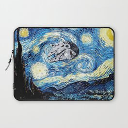 Falcon flies the Starry Night Laptop Sleeve