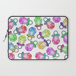 Retro 80's 90's Neon Colorful Ring Candy Pop Laptop Sleeve