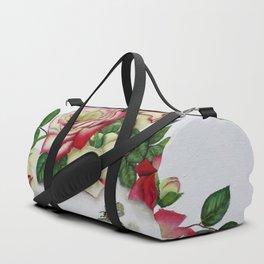 French Perfume Rose Swag Bee Art Duffle Bag