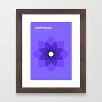 Aestheticism Framed Art Print