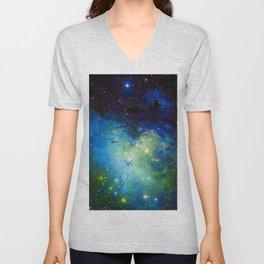 The Eagle Nebula Green Blue Unisex V-Neck