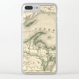Lake Superior 1878 Clear iPhone Case