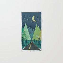 The Long Road at Night Hand & Bath Towel
