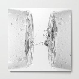 water splash in glasses Metal Print