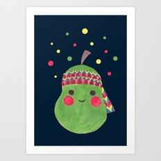 Hippie Pear Art Print